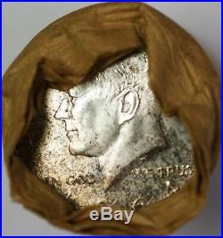 1964-P Roll of Kennedy Half Dollars 50c 90% Silver BU Original Bank Wrapped OBW