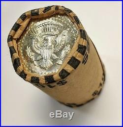 1964 P or D Kennedy Half Dollar SHOTGUN ROLL OBW Fresh AU / BU Coins SILVER
