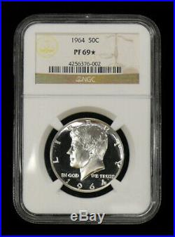 1964 Pf-69 Star Silver Kennedy Half Dollar Rare