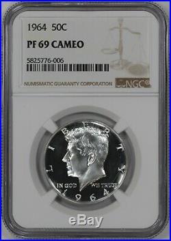 1964 Proof Kennedy Half Dollar 50c Ngc Certified Pf Pr 69 Cameo (006)