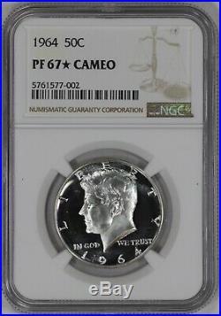 1964 Proof Kennedy Half Dollar 50c Ngc Certified Pr Pf 67 Star Cameo (002)