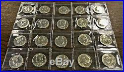 1964 Proof Silver Kennedy Half Dollar Roll of 20 in Sealed Flips White Coins