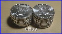 1964 Roll Choice BU Kennedy Silver Half Dollars