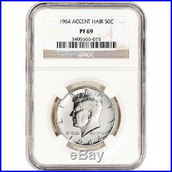 1964 US Kennedy Silver Half Dollar Proof 50C NGC PF69 Accented Hair