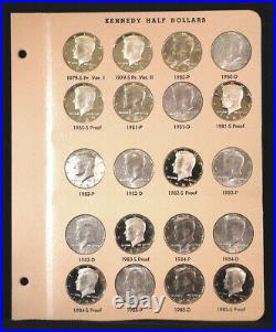 1964 thru 2002 D Kennedy Half Dollars, PDSS All BU +Silver Proofs Dansco Album