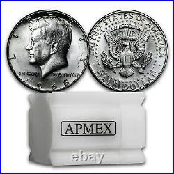 1965-1970 40% Silver Kennedy Half Dollar 20-Coin Roll BU/Proof SKU#34816