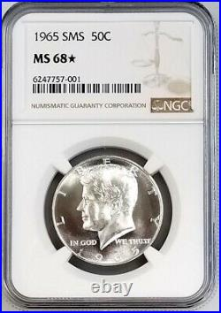 1965 SMS Kennedy Half Dollar certified MS 68 STAR by NGC