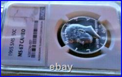 1965-p Ngc Ms67 Cameo Sms Kennedy Half Dollar. 50c
