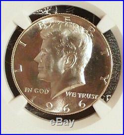 1966 NGC MS68 Star SMS Kennedy 40% Silver Half Dollar PQ Eye Appeal SP68 Star