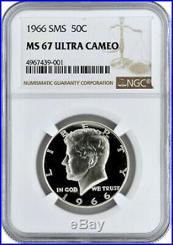 1966 SMS 50c Silver Kennedy Half Dollar NGC MS 67 Ultra Cameo