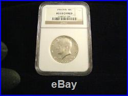 1966 SMS Kennedy 40% Silver Half Dollar, NGC MS68 Cameo