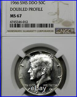 1966 SMS MS67 Doubled Profile DDO Kennedy Half Dollar 50c, NGC Graded SP67