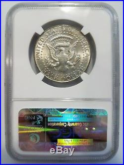 1967 Kennedy Silver Half Dollar NGC MS 63 Missing Clad Layer Planchet Mint Error