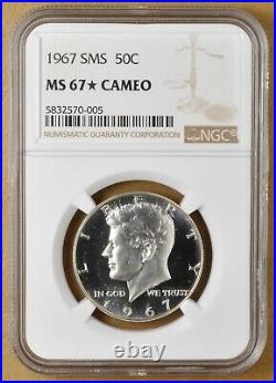 1967 SMS Kennedy Silver Half Dollar NGC MS 67 Star Cameo