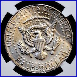 1967 Silver Kennedy Half Dollar, Clamshell Error, Ngc Au-58