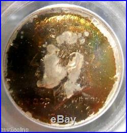 1968-D Kennedy Silver Half Dollar, PCGS MS65, Monster Rainbow Toned