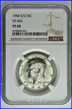 1968 S/S 50c Proof Kennedy Half Dollar NGC PF 68 VP-002 Top Pop 4/0