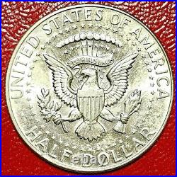 1968-d Kennedy Half Dollar Missing 70% Obverse Clad Error