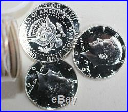 1969 S Proof 40% Silver KENNEDY Half Dollar Roll 20 Coins from Proof Sets 50c