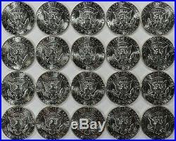 1970 D Kennedy Half Dollar 50c Gem Bu Brillian Unc Full Roll 20 Coins