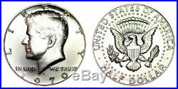 1970 D Kennedy Half Dollar Gem Bu Brilliant Full Roll 20 Coins