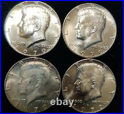 1970 D Kennedy Half Dollars Gem BU Roll 20 Coins