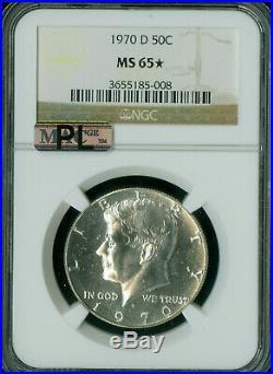 1970-d Kennedy Silver Half Dollar Ngc Ms65 Pl Rare Mac Spotless