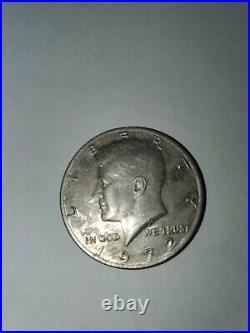 1972 John F Kennedy Half Dollar coin