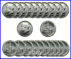 1976 S Kennedy 40 % SILVER Half Dollar 50c Gem BU. Roll 20 US coins