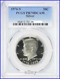 1976-S Kennedy Silver Half Dollar 50C PCGS Proof PR 70 Deep Cameo Bi-Centennial
