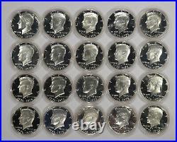1976 S Proof Kennedy Bicentennial Half 50c 40% Silver Encapsulated Gem 20 Coins