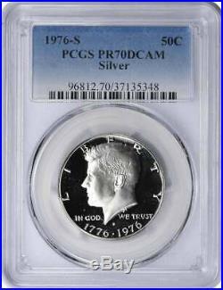1976-S Silver Kennedy Half PR70DCAM PCGS Proof 70 Deep Cameo