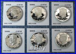 1992-S 1993-S thru 2018-S 2019-S Gem Proof Silver Kennedy Half Dollar 28pc Set