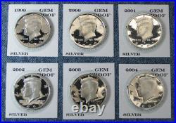 1992-S 1993-S thru 2019-S 2020-S Gem Proof Silver Kennedy Half Dollar 29pc Set