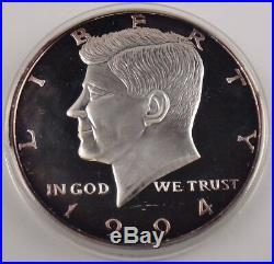 1994 50C Kennedy Half Dollar 1/2 LB Half Pound 8 Oz. 999 Fine Silver Coin