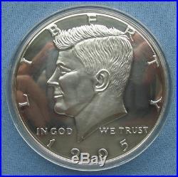 1995 Half Pound. 999 Silver Kennedy Half Dollar Round 8 troy oz Washington Mint