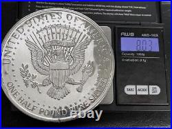 1996 Kennedy One Half Pound 8 Ounces oz. 999 Pure Silver Round