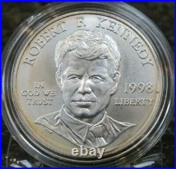 1998 Kennedy Collector's Set Uncirculated Silver Dollar & Matte JFK Half Dollar