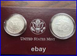 1998 Kennedy Collector's set RFK silver dollar and Matte Finish JFK half dollar