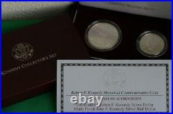 1998 Kennedy Uncirculated Collector 2 Coin Set Matte Finish Half + Silver Dollar