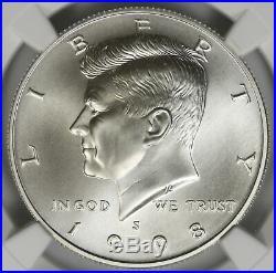 1998-S Kennedy Silver Half Dollar 50C NGC SP70