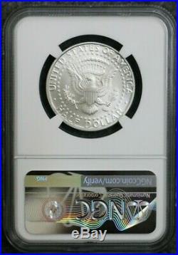 1998-S Silver 50C Kennedy Half Dollar MINT ERROR NGC SP69 OBVERSE STRUCK THRU