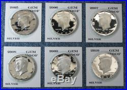 1999-S 2000-S thru 2018-S 2019-S Gem Proof Silver Kennedy Half Dollar 21pc Set
