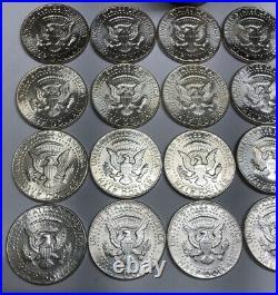 1 BU Original Paper Bank Roll 1964p 90% Silver Kennedy Half Dollars $10 FV