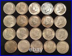 1 Roll (20) 90% Silver 1964 Kennedy Half Dollars (#11)