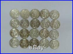 1 Roll Of 20 1970-d 40% Silver Kennedy Half-dollar Coins Uncirculated