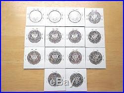 2000 2001 2002 2009 2010 2011 2012 2013 S Silver Proof Kennedy 14 Half Set Lot