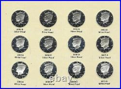 2000-2009-2011 Proof Silver Kennedy Half Dollar Cameo 12 Piece Set