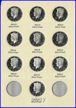 2000-2009 S Proof Silver Kennedy Half Dollar DCAM Collection -10 Pc Set