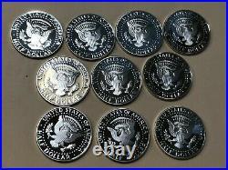 2000-2009 S Silver Kennedy Half Dollar Cameo Gem Proof Set (10) High Grade Coins